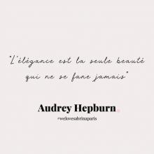 CITATION 💌 - « L'élégance est la seule beauté qui ne se fane jamais » Audrey Hepburn.⠀⠀⠀⠀⠀⠀⠀⠀⠀ Tous les mardis découvrez une citation de femme forte, une citation qui nous inspire, qui nous tire vers le haut, qui nous booste, qui nous fait sourire.⠀⠀⠀⠀⠀⠀⠀⠀⠀ -⠀⠀⠀⠀⠀⠀⠀⠀⠀ #mardicitation #welovesabrinaparis #femmeforte #audreyhepburn