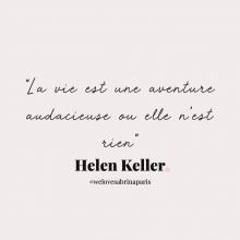 CITATION 💌 - « La vie est une aventure audacieuse ou elle n'est rien » Helen Keller.⠀⠀⠀⠀⠀⠀⠀⠀⠀ Tous les lundis découvrez une citation de femme forte, une citation qui nous inspire, qui nous tire vers le haut, qui nous booste, qui nous fait sourire.⠀⠀⠀⠀⠀⠀⠀⠀⠀ -⠀⠀⠀⠀⠀⠀⠀⠀⠀ #lundicitation #welovesabrinaparis #femmeforte #helenkeller